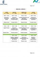 Exámenes Segunda Semana del 10 al 13 de mayo de 2021